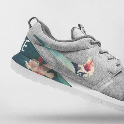 Resim Nike Floral Roshe Customized Running Shoes